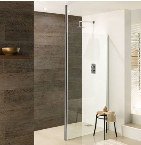 Valliant Round Pole Walk In, Wetroom Glass Screen - Various Sizes